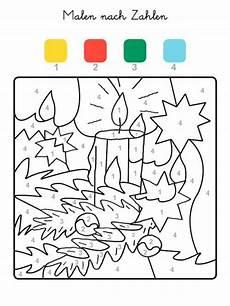 Ausmalbilder Vorschule Kleinkind Malen Nach Zahlen Weihnachtskerze Ausmalen Zum Ausmalen