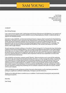 Cover Letter Examples Marketing Cover Letter Examples By Real People Marketing Manager