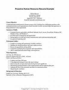 Human Resource Resume Objective Professional Objective In Resume For Human Resource