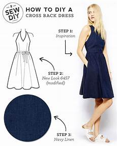 diy cross back dress sew diy