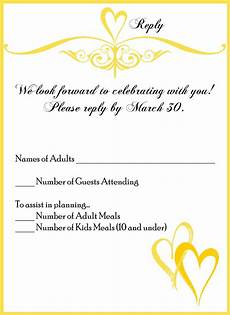Wedding Invitations And Response Cards Invitation Card Wedding Invitation Reply Card Wording