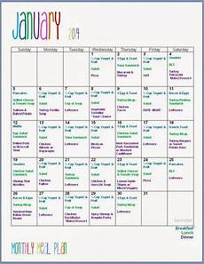 Monthly Plan Template Mart January Monthly Meal Planning W Grocery