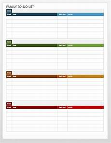 Microsoft Templates To Do List 30 Free Task And Checklist Templates Smartsheet