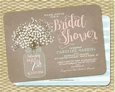 rustic bridal shower invitation kraft mason jar and baby s