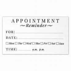 Appointment Cards Template Appointment Cards Amazon Com