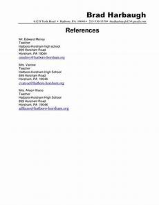Writing References On A Resumes Cv Template References Reference Page For Resume Resume