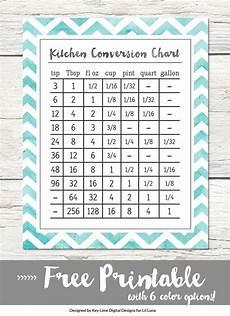 cooking measurement chart kitchen conversion chart