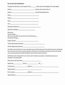 Bill Of Sale Form Download Free Massachusetts Motorcycle Bill Of Sale Form Pdf