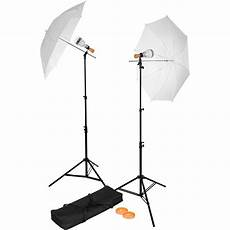 How To Use Umbrella Lights In Video Westcott Basics Led 2 Light Umbrella Kit 360 B Amp H Photo Video
