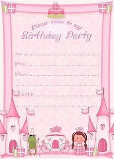Princess Party Invitations Printable Free Free Birthday Invitations For Kids Bagvania