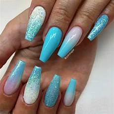 Light Blue Nails Coffin Coffin Nails Ideas For Enchanting Look
