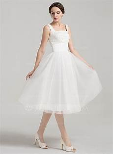 a line princess square neckline knee length tulle lace