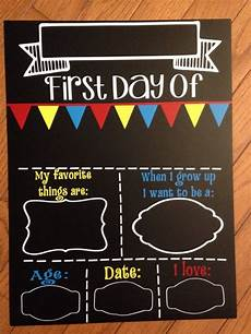 First Day Of Preschool Template First Day Of School Chalkboard Reusable Fill In The Blanks