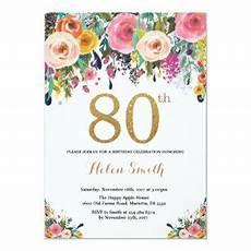 80th Birthday Invitation 80th Birthday Invitations Zazzle