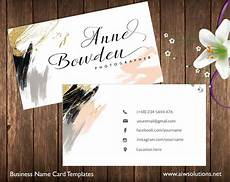 Examples Of Calling Card Premade Business Card Template Name Card Template