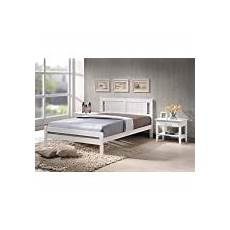 oxford small 4ft metal bed frame white gold