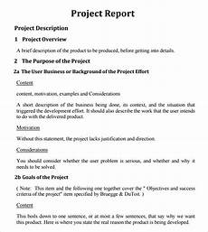 Project Report Template Word Free 26 Project Report Templates In Ms Words Apple Pages