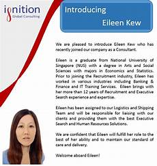 New Hire Announcement New Employee Announcement Ignition Global