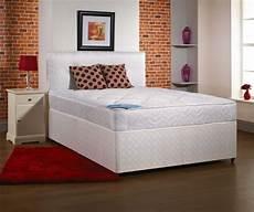 opal soft 4ft small divan bed inc mattress headboard