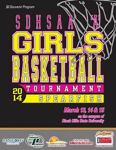 Basketball Tournament Program Template Sd State A Girls Basketball Tournament Program By Moxie