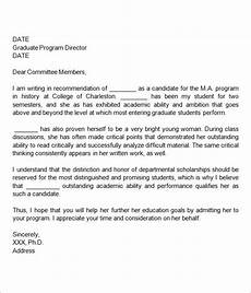 Letter Of Recommendation Graduate School Samples Free 45 Sample Letters Of Recommendation For Graduate