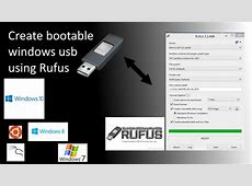 rufus bootable usb windows 10  easy create bootable