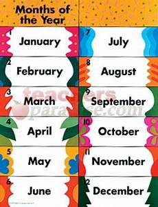 Printable Month Printable Months Of The Year Chart Google Search