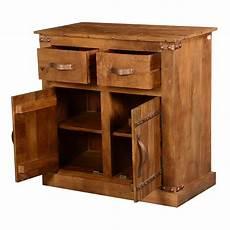 modern farmhouse solid mango wood 2 drawer rustic buffet
