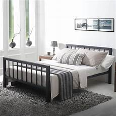 discount 4ft6 metro black metal bed uk