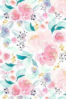 flower wallpaper watercolor mermaid floral by indybloomdesign design typography