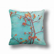branches decor turquoise pillows for accent