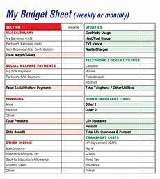 Budget Sheets Templates Free 7 Sample Budget Sheet Templates In Pdf Ms Word Excel