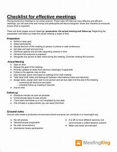Meeting Checklist Template Free 16 Meeting Checklist Samples Amp Templates In Pdf Ms