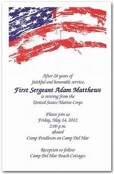 Patriotic Template Usa Flag Invitations 4th Of July Invitations Military