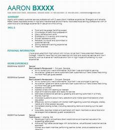 Objective For Server Resumes Best Server Resume Example Livecareer