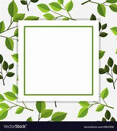 Green Border Design Border Template With Green Leaves In Background Vector Image