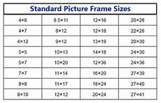 All Photo Size Chart Standard Picture Frame Sizes