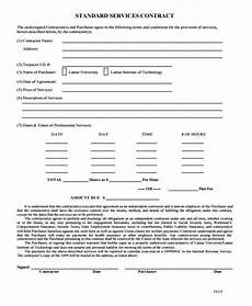Standard Contract Template Free 35 Contract Templates In Ms Word Google Docs