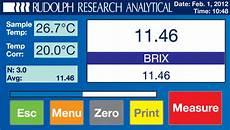Brix Refractometer Temperature Correction Chart Food Amp Beverage Refractometer