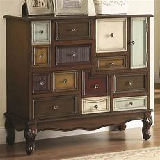 950327 multi colored accent cabinet from coaster 950327