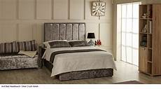 avril bed headboard available in crush velvet chenille