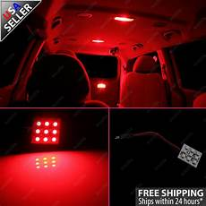 Red Led Interior Lights 2x Red 9 Smd Led Panel Light For Interior Map Dome Step