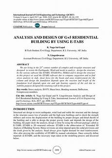 Analysis And Design Of Buildings Pdf Analysis And Design Of G 5 Residential Building By