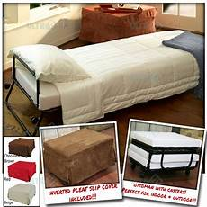 ottoman folding bed convertible sofa with inverted pleat