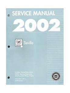 2002 Cadillac Seville Factory Service Manual 2 Volume Set