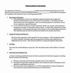 Example Lease Agreement Sample Memorandum Of Lease Agreement 9 Free Documents