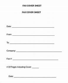 Fax Cover Sheet Template Word 20 Free Fax Cover Sheet Templates Printable Word Excel