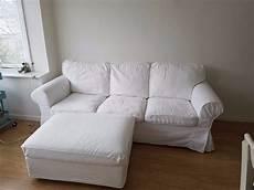 ikea three seat sofa ektorp white matching storage