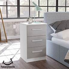 lynx white and grey 3 drawer bedside table in 2020 3