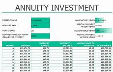 Excel Annuity Annuityf Excel Sheet Annuity